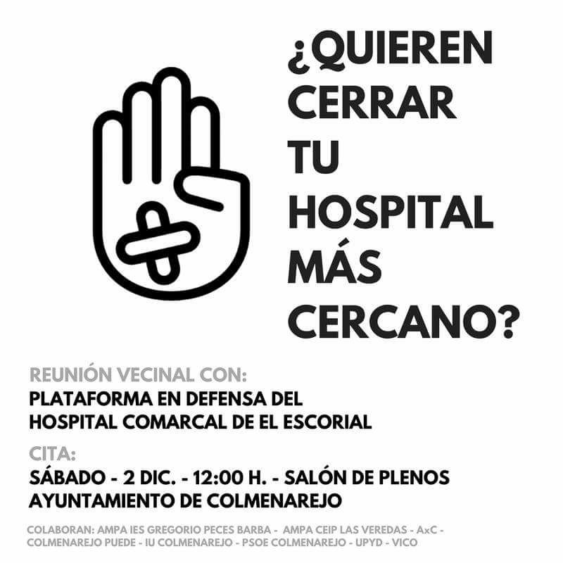 Plataforma Hospital El Escorial acto