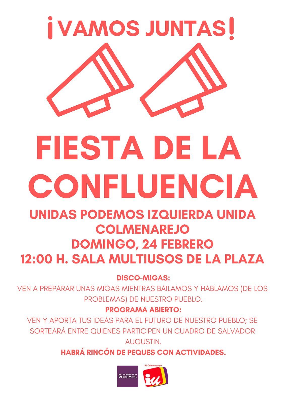 Fiesta de la Confluencia domingo 24 de febrero de 2019 Colmenarejo 12 horas