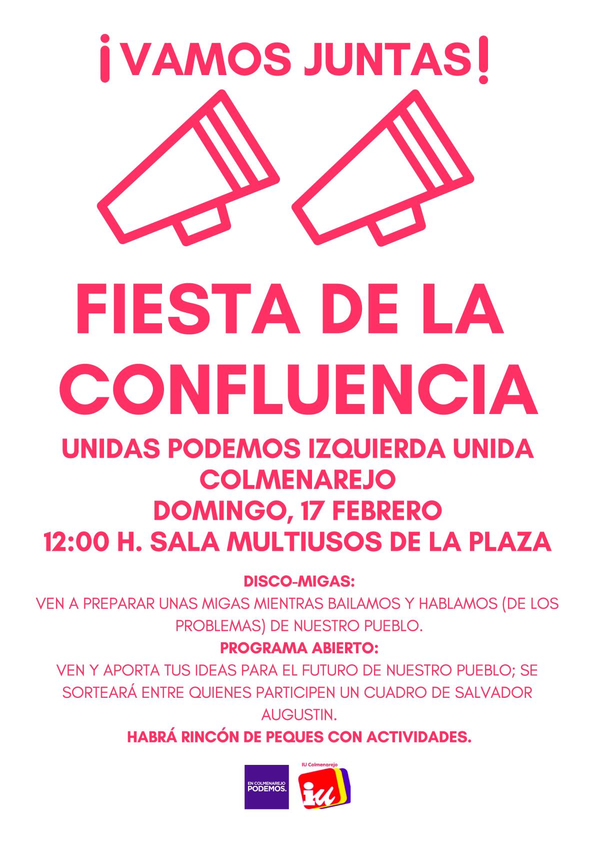 vamos juntas acto público domingo 17-02-2019 12 horas